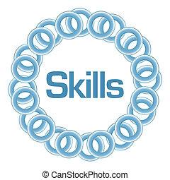 Skills blaue Ringe rund.