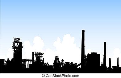 skyline, industrie