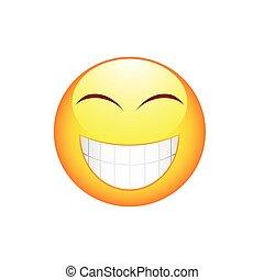 Smile Emoticon mit großen Zähnen