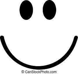 Smiley mit großem Lächeln.