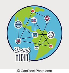 Social media to netword global connection