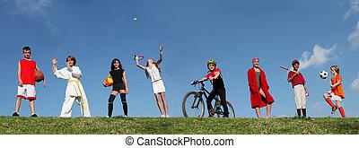 sommer sport, lager, kinder