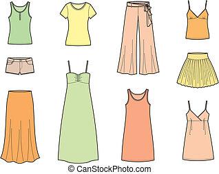 Sommerkleidung.