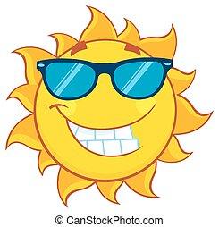 Sommersonne mit Sonnenbrille.