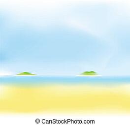 Sommerstrand verschwommener Hintergrund.