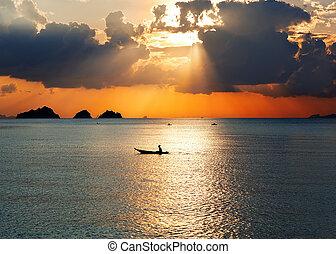 Sonne auf dem Meer.