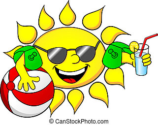 Sonne im Sommerurlaub.