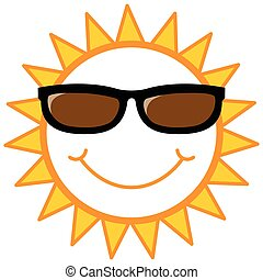sonne, smiley, sonnenbrille