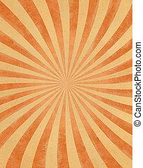 Sonnenstrahlen auf Papier