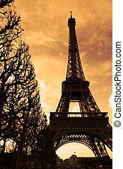 Sonnenuntergang auf dem Eiffelturm