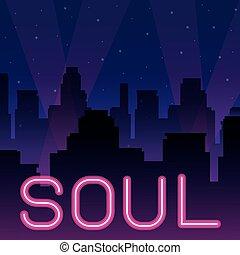 Soul Neonwerbung.