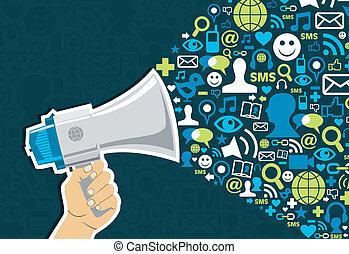 sozial, medien, marketing