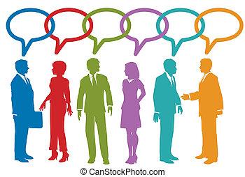 Soziale Medien-Geschäfte reden von Gerede