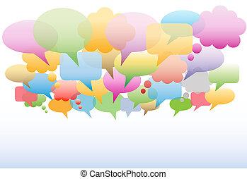Soziale Medien-Rede bläht den Gradienten Hintergrund