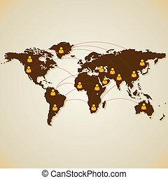 Soziale Medienverbindung zur Welt