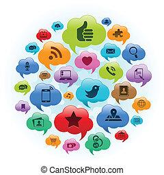 Soziale Medienwolke