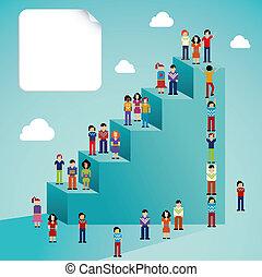 Soziale Netzwerke, Menschen mit globalem Wachstum
