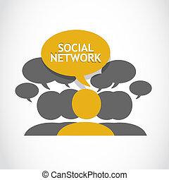 Soziale Netzwerkverbindungen.