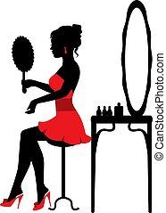 spiegel, frau