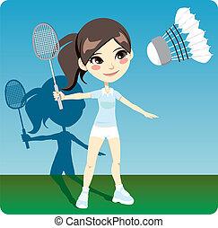 spieler, badminton