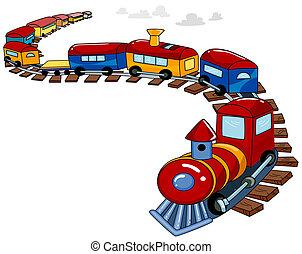 Spielzeugzug Hintergrund