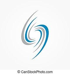Spiral und Wirbel Logo Design Elemente.