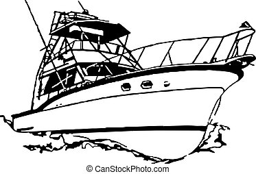 sport fischen, boot