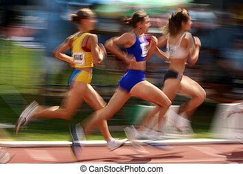 Sportler im Wettbewerb