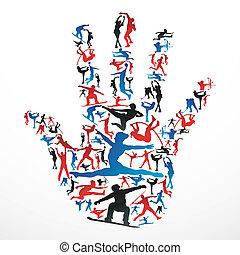 Sportsilhouettes Hand