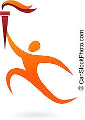 Sportvektorfigur - Olympische Zeremonie.