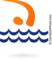 Sportvektorfigur - schwimmen