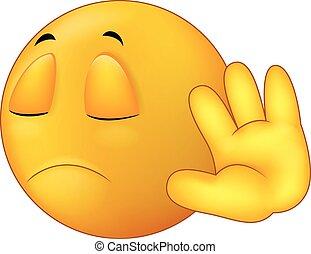 Sprich mit meiner Handbewegung, Smiley Emo.