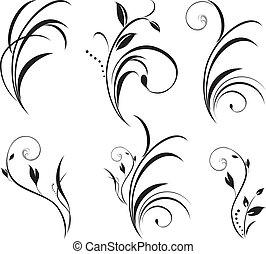 Sprigs. Blumenelemente für die Deko