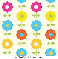 Spring-Blume, nahtloser Vektor-Design