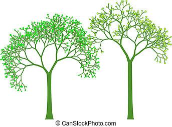 Springbäume, Vektor