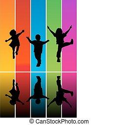 Springende Kinderschänder