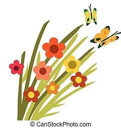 Springtime Blümchen und Schmetterlinge -2