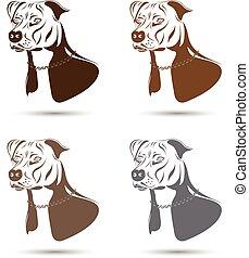 Staffordshire Terrier Dog Set.