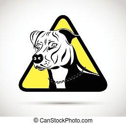 Staffordshire Terrier Hundeschild.