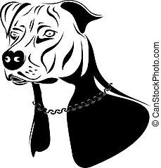 Staffordshire Terrierhund.