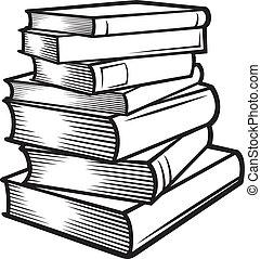 Stapel Bücher (Bücher gestapelt)