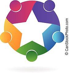 Star-Teamwork-Leute-Logo
