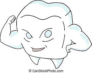 Starke Zahnzeichnung.