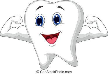 Starker Zahn Cartoon