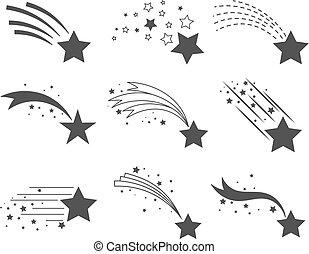 Stars mit Schwanz-Ikonen schießen