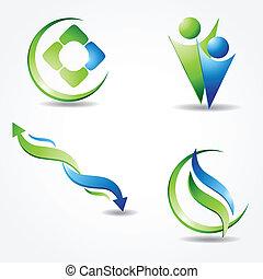 Starte grünes ökologisches Banner