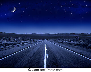 Stary Night Road