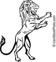 stehende , löwe