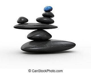Stein im Gleichgewicht