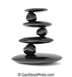 steine, gleichgewicht, begriff, zen